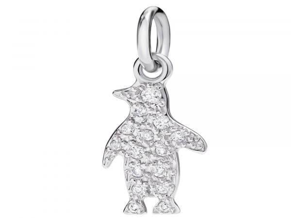 Dodo Charm Pinguin Weißgold mit Brillant