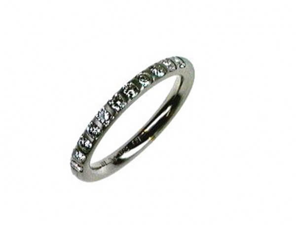 Memoire Ring Platin mit 27 Brillanten