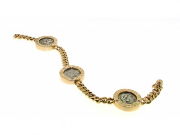 Armband Roségold mit römischen Münzen