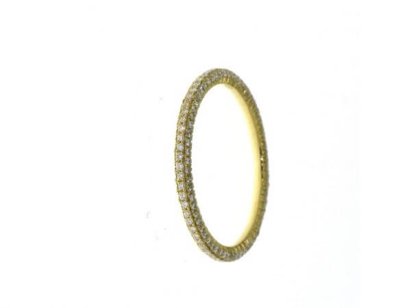 Ring 750WG mit micropavée Brillanten