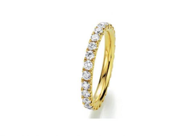Memoire Ring Gelbgold mit 28 Brillanten