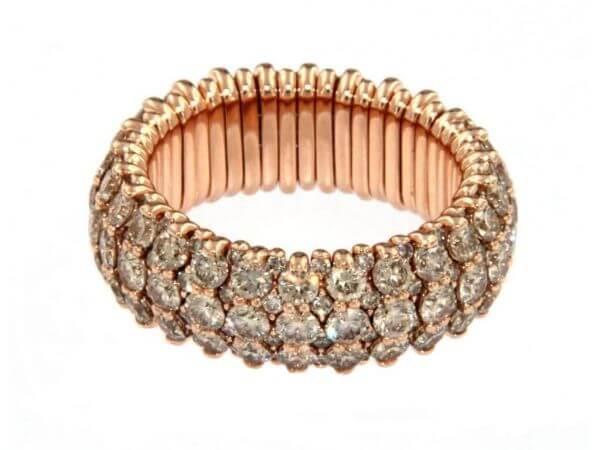 Extensible Ring Roségold mit Brillanten