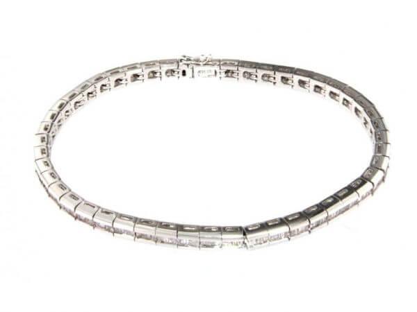Armband aus Weißgold mit Diamant Baguett