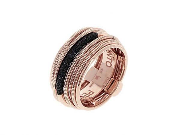 Pesavento Polvere schwarz Ring 12 mm