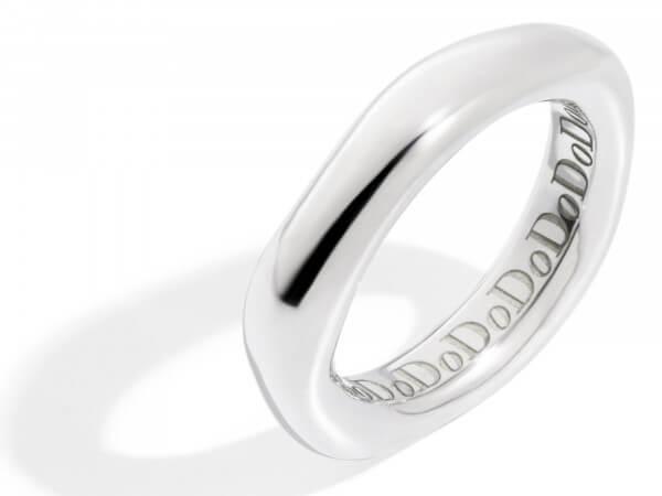 Dodo irregular Ring aus Silber