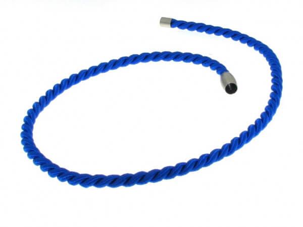 Baumwollkordel 5 mm blau Magnetschließe