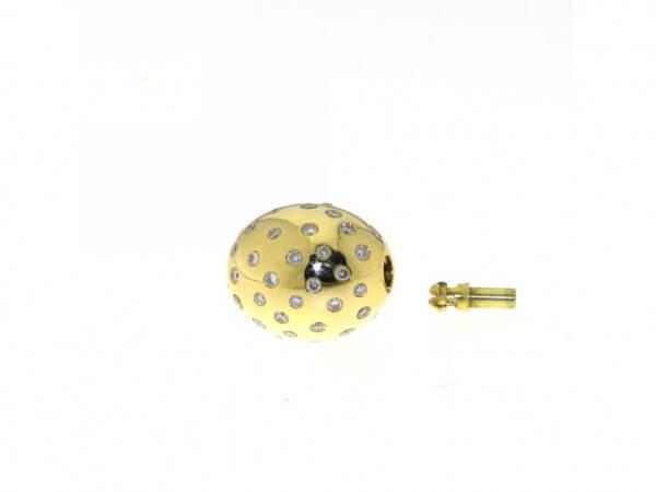 Schließe Gelbgold 14x12mm Brillanten