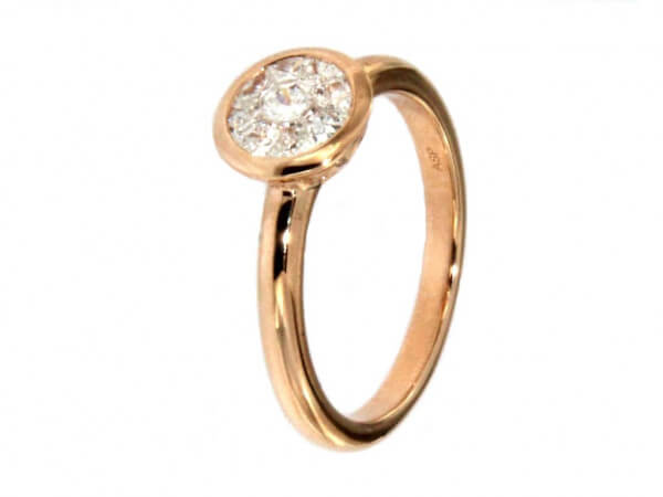 Ring aus Roségold Diamant Look 1 ct