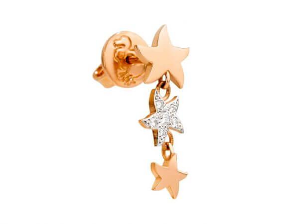 Dodo Ohrhänger 3 Sterne und Brillanten