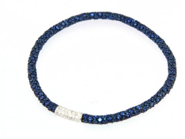 Armband flexibel Safire und Brillanten