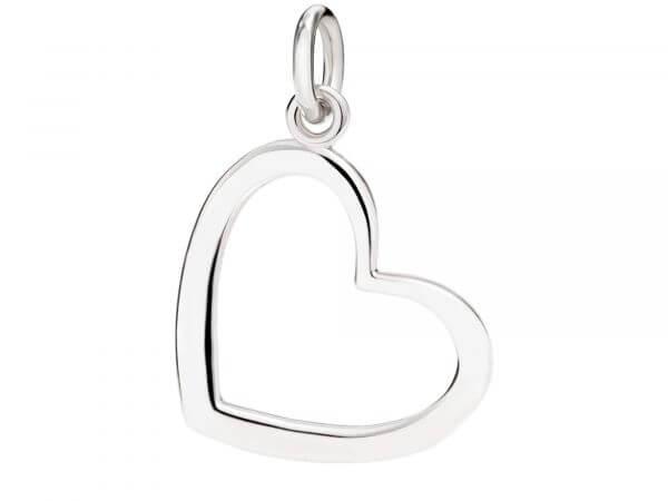 Dodo Charms Herz Silhouette aus Silber