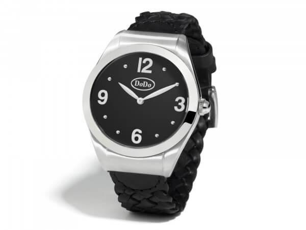 Dodo Uhr aus Edelstahl mit Lederband