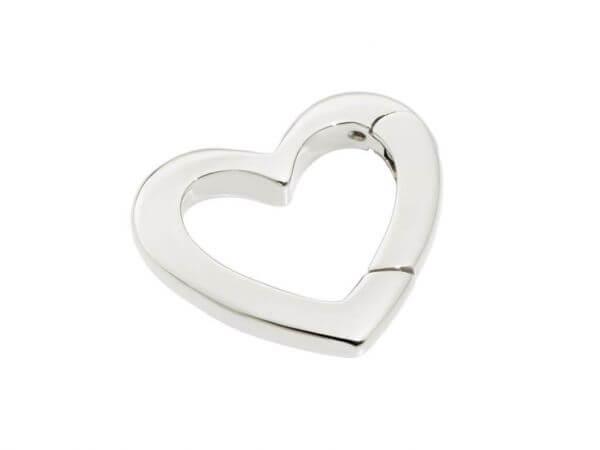 Karabiner kleine Herzform aus Silber