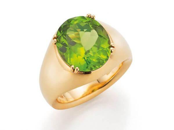 Ring aus Roségold mit Beryll 6,67 ct