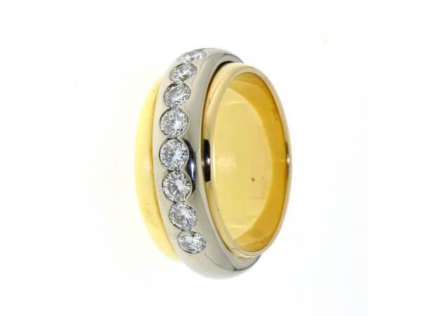 Ring 750 Gelb/Weißgold mit Brillanten