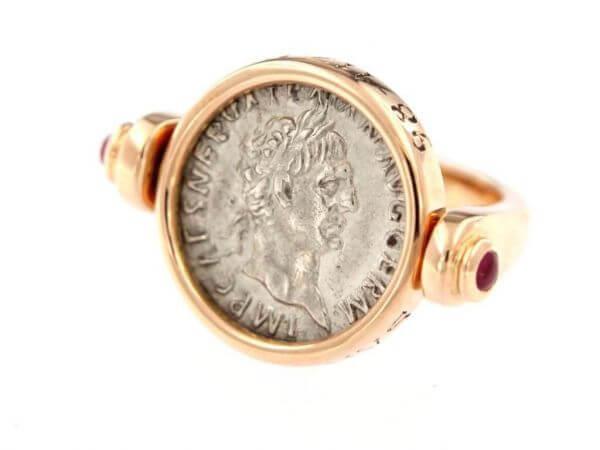 Ring mit Original römischer Münze