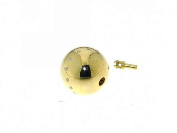Schließe Gelbgold 15 mm poliert Brillant