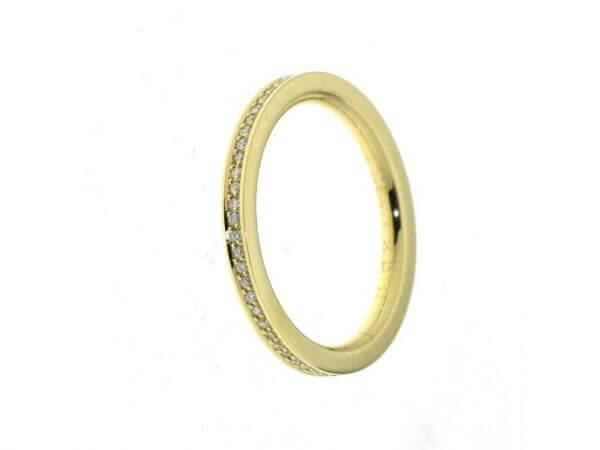Memoire Ring aus Gelbgold mit Brillanten