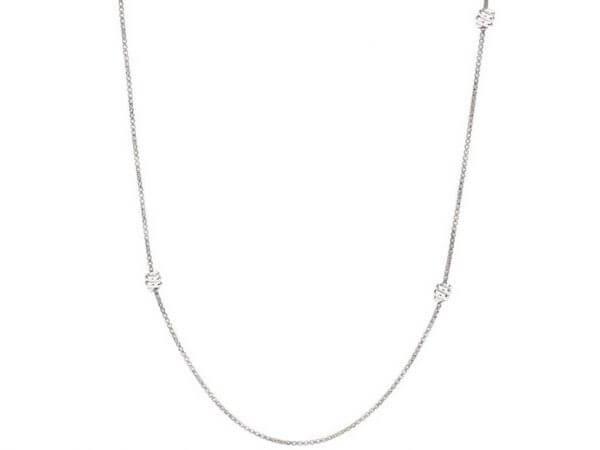 Dodo Nodo Kette aus Silber 80 cm