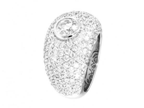 Ring 1 Brillant 1,01ct Brillanten 4,04ct
