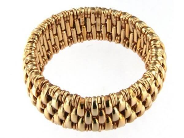 Armband dehnbar Metall goldplattiert
