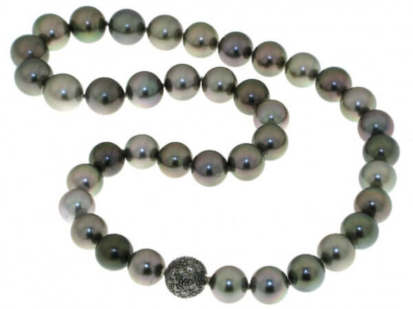 Tahiti Perlkette 10-12mm mit Verschluß