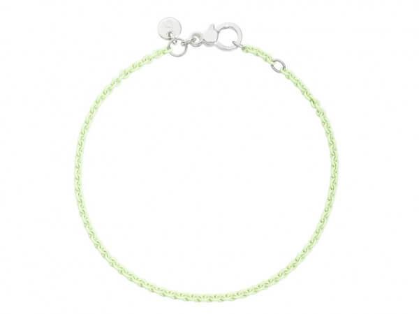 Dodo Armband Silber pastellgrün lackiert