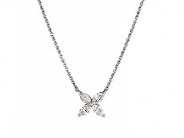 Collier Platin/Weißgold mit Diamanten