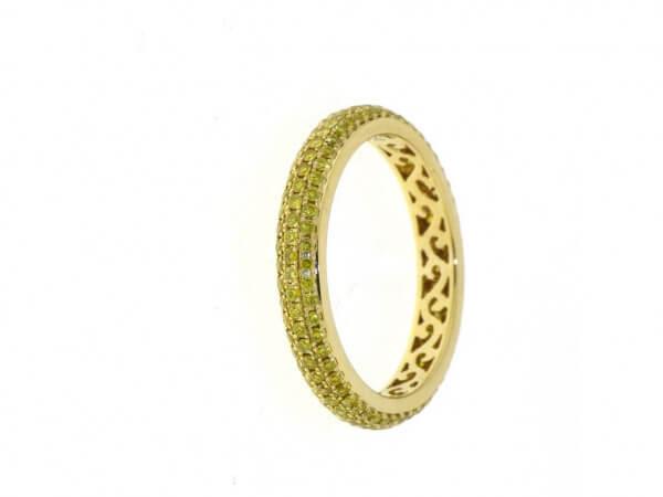 Ring Allure aus Gelbgold 3,21 mm breit