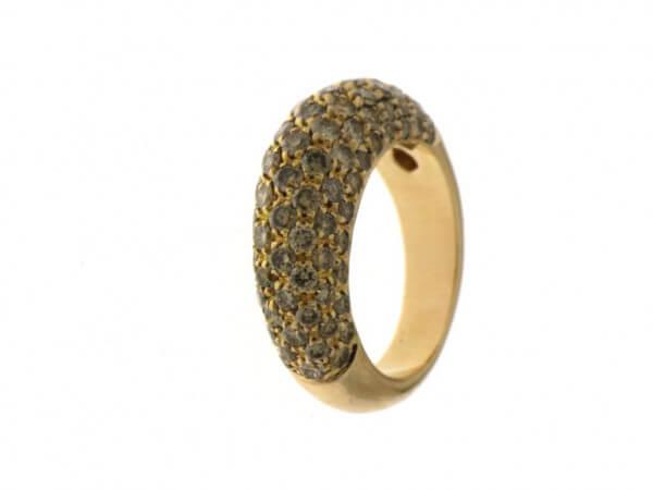 Ring Gelbgold mit braunen Diamanten