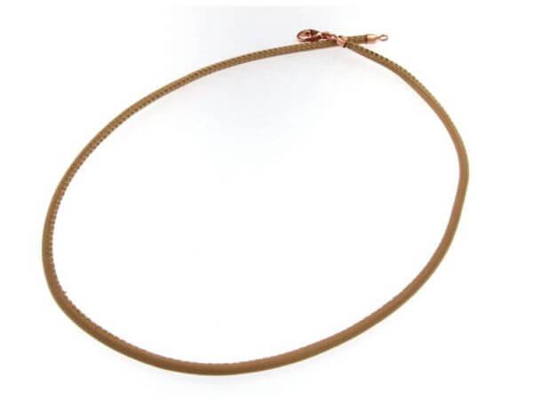 Lederband 3 mm  mit Roségold Verschluß
