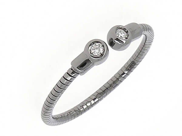 Pesavento DNA Ring Silber mit Ruthenium