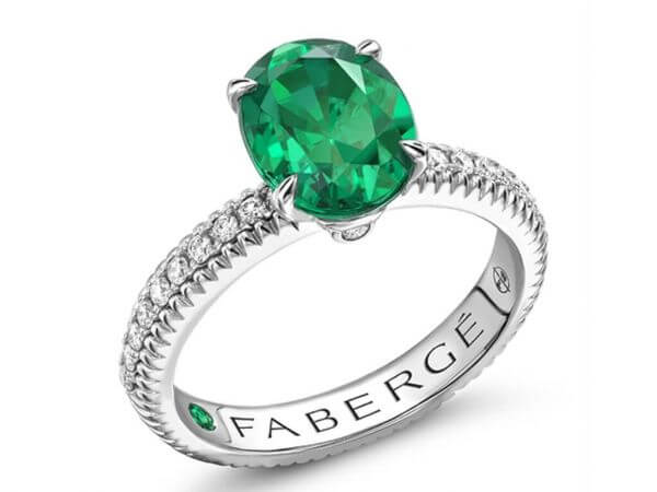 Fabergé Ring Colours of Love mit Smaragd