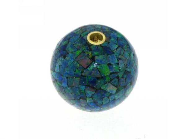 Opalkugel 15mm mit Patentschließe