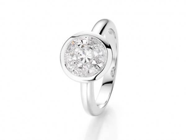 """Ring mit Diamanten """"look like 3 ct"""""""