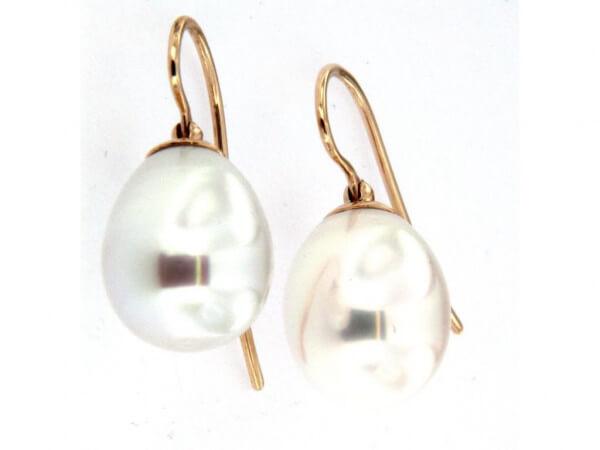 Perlohringe Südsee Perlen 11,7 x 15 mm