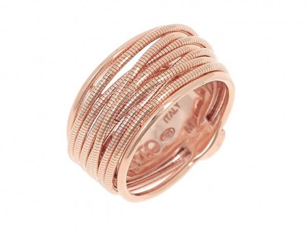 Pesavento DNA Ring Silber Rose vergoldet