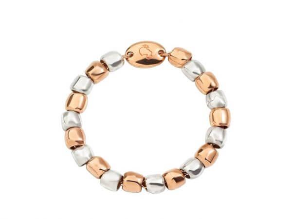 Dodo mini Granelli Ring Silber-Roségold