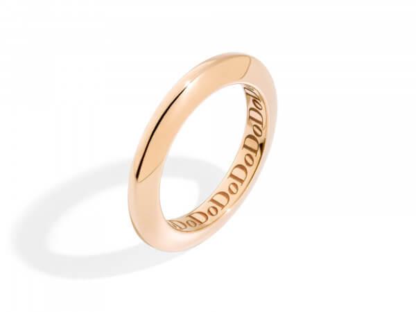Dodo Disc Ring aus Roségold