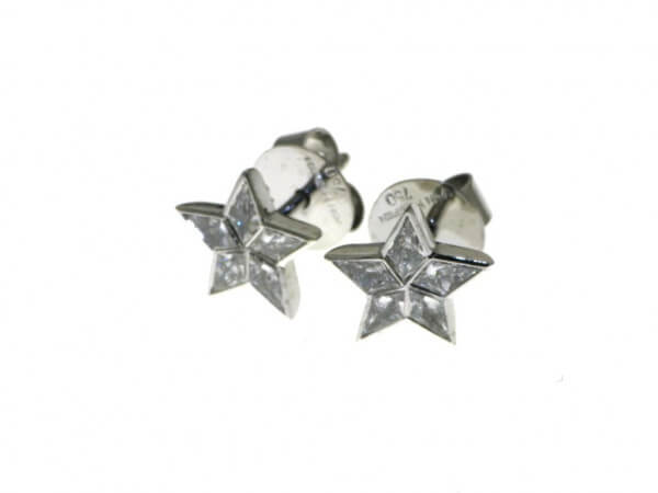 Ohrstecker Sterne mit Diamanten