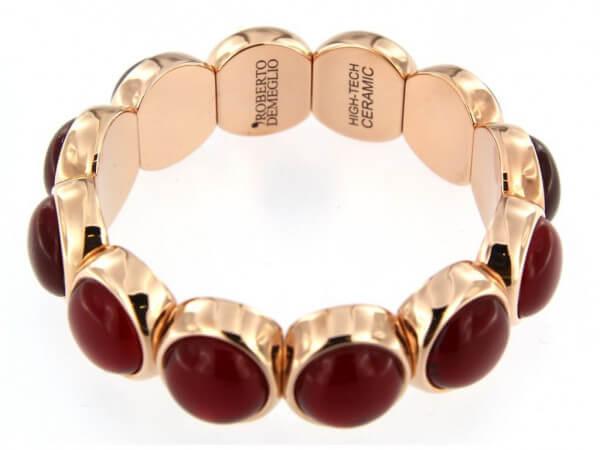 Armband flexibel mit roten Steinen