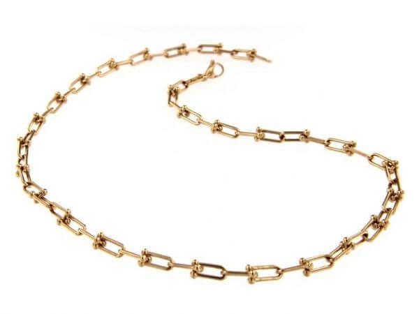 Halskette Schekel 3,65x9 mm aus Roségold