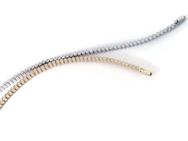 Armband aus Platin mit 55 Brillanten