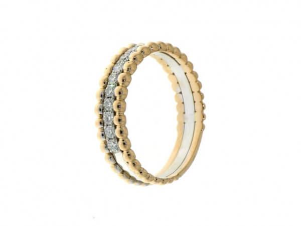 Ring Rosé/Weißgold mit Brillanten 0,25ct