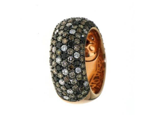 Ring 750 Roségold mit Brillanten