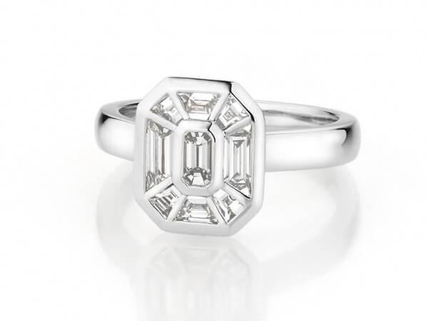 Ring aus Weißgold mit Diamanten 0,90 ct