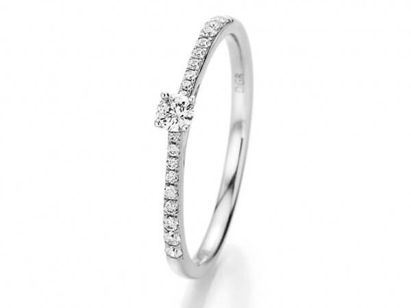 Ring aus Weißgold mit 0,21 ct Brillanten
