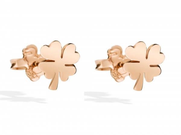 Dodo Ohrringe Kleeblatt aus 9kt Roségold