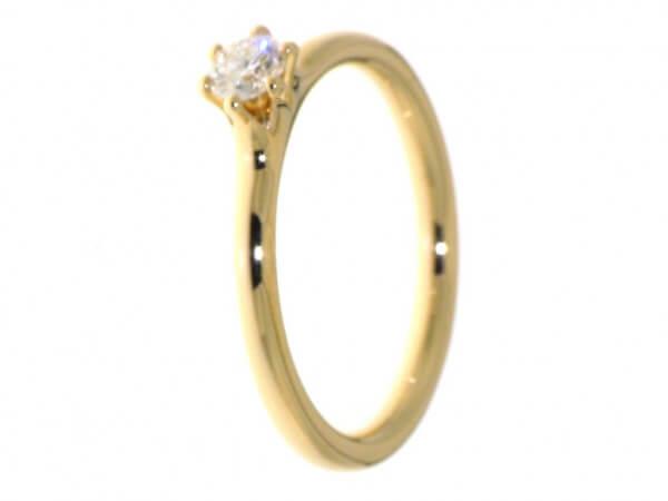 Solitär Ring aus Roségold Brillant 0,22