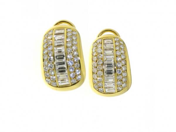 Ohrringe Gelbgold mit Diamanten